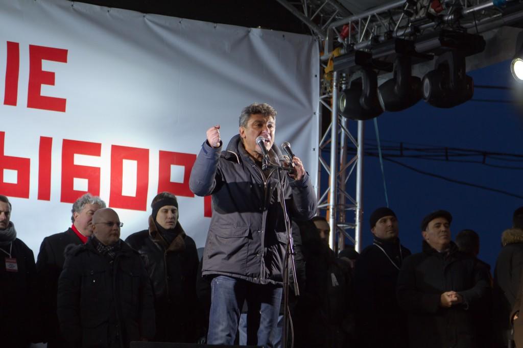 Митинг на Пушкинской площади Борис Немцов