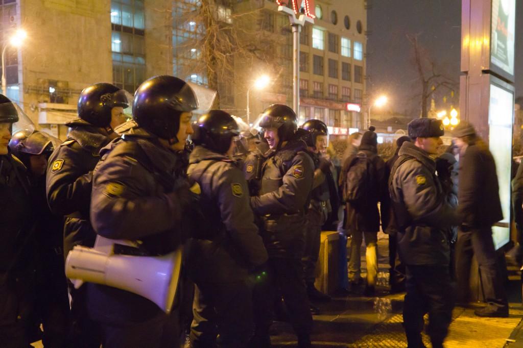 Митинг на Пушкинской площади полиция