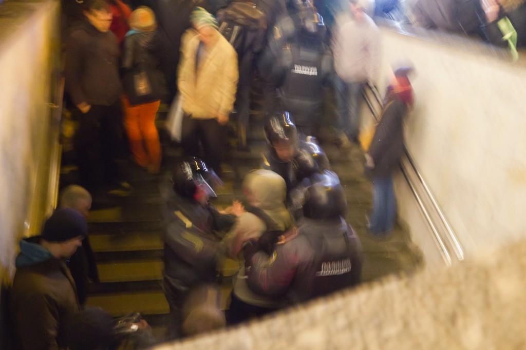 Митинг на Пушкинской площади задержания