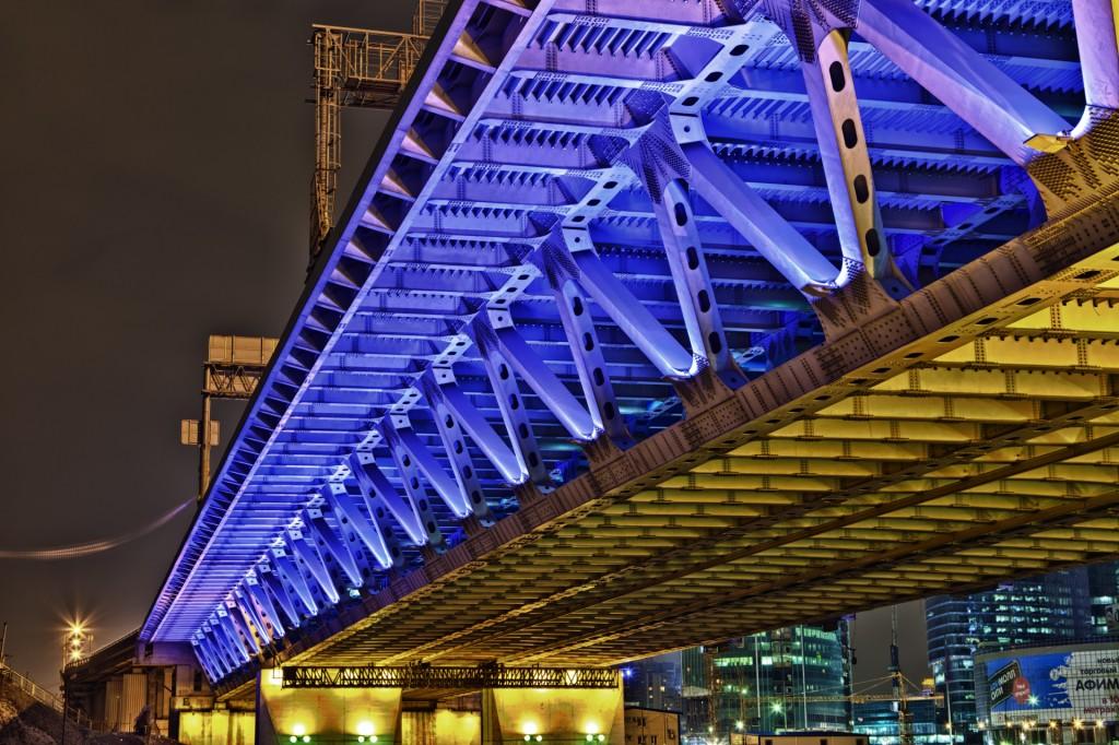 Дорогомиловский автодорожный мост HDR