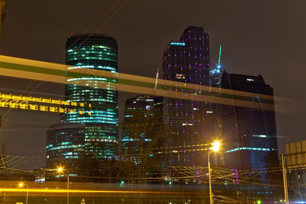 Москва-сити с Кутузовского проспекта