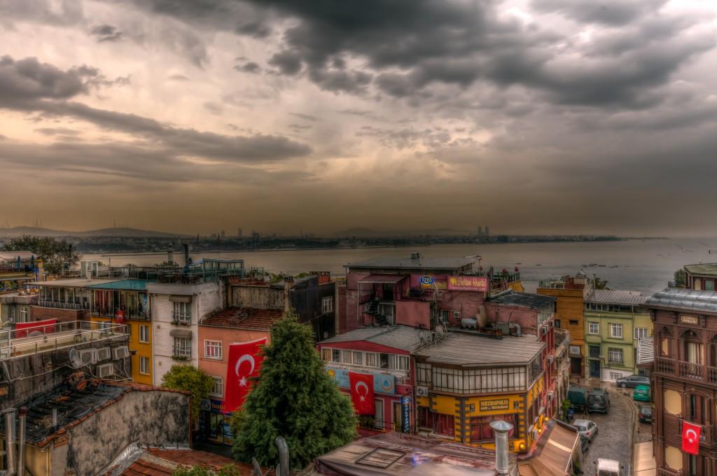 Стамбул: дождь