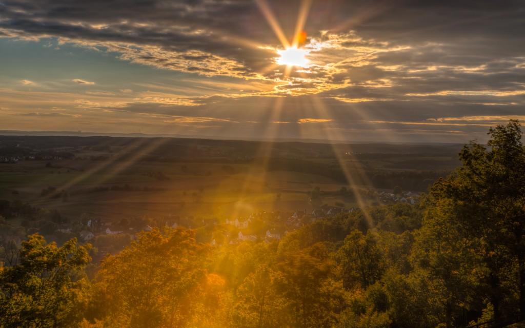 Бамберг. Закат в Альтенбурге