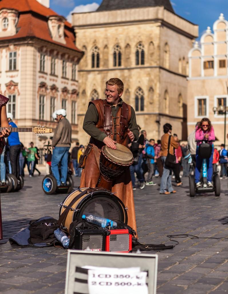 Музыканты на Староместской площади