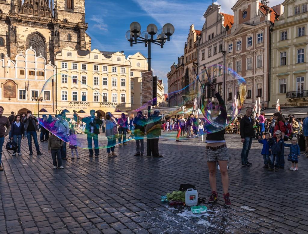 Прага. Мыльные пузыри