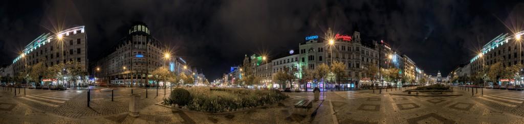 Панорама Вацлавской площади