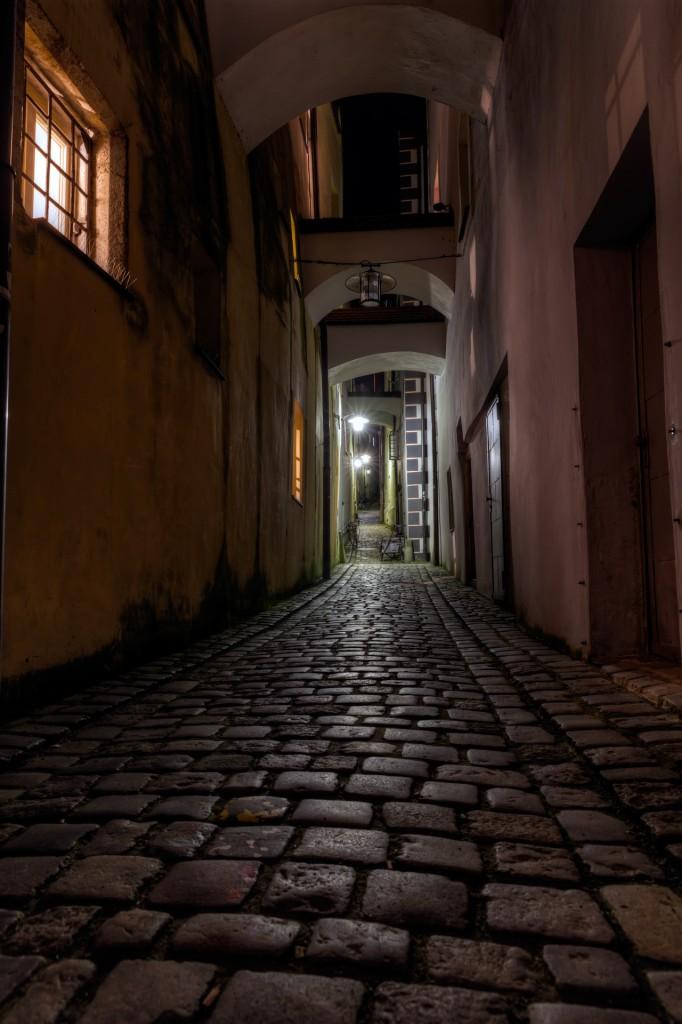 Пассау ночью