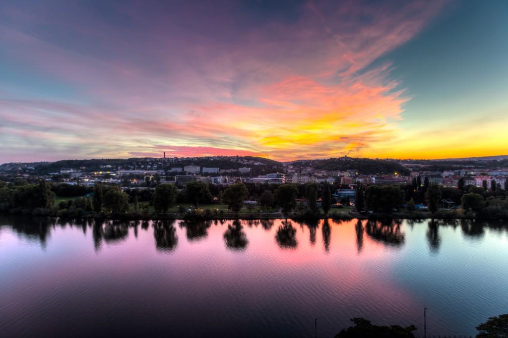 Закат в Вышеграде