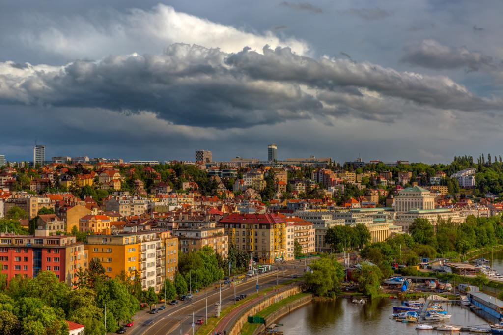 Прага. Непогода в Вышеграде
