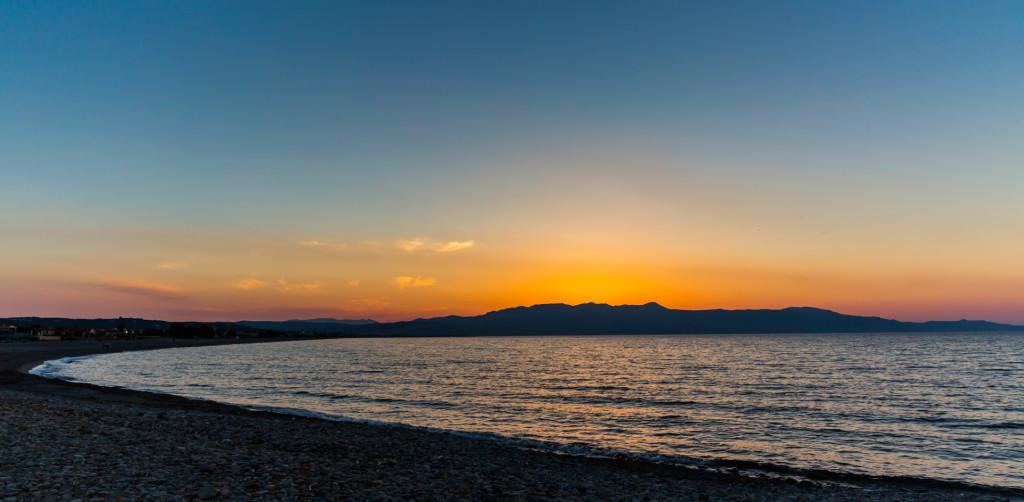 Греция. Закат на Крите